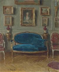 le canapé bleu by jean béraud