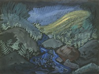 blue brook by milton avery