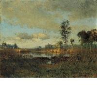 etang dans les landes by ivan pavlovich pokhitonov