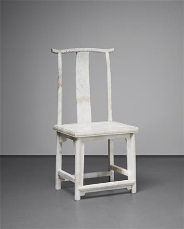 marble chair (no. 14) by ai weiwei