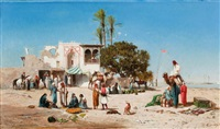 marché au bord du nil by victor pierre huguet