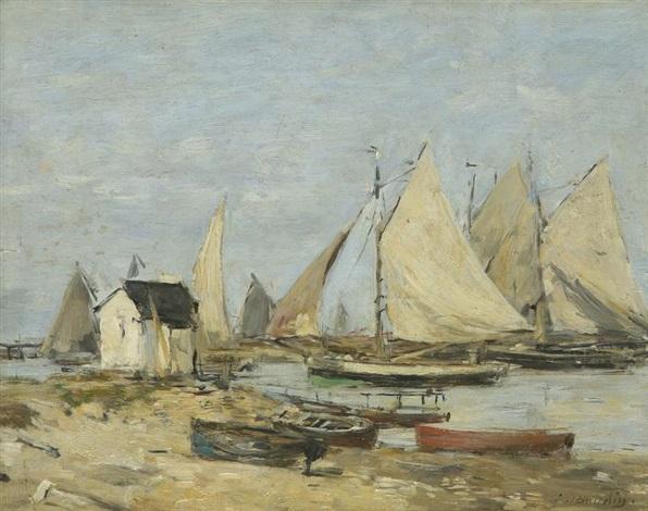 port de pêche by eugène boudin