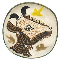 tête de chèvre de profil/goat's head in profile by pablo picasso