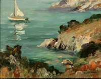 sailboat along the california coast by george sumner colman