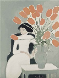 chantal aux tulipes by andré brasilier