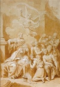 adorazione dei pastori by laurent pécheux