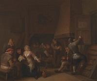 peasants in a tavern by egbert van heemskerck the younger