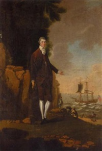 portrait of captain walter thompson by edward alcock