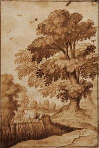 paysage avec arbre by alexander keirincx