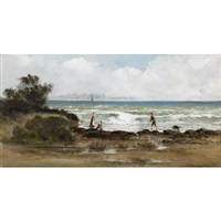 figures on the shore by carl henry von ahrens