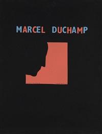 autoportrait de profil (fond rouge) by marcel duchamp