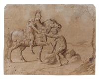 saint martin partageant son manteau by girolamo da treviso the younger