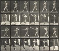 man swinging a baseball bat (from animal locomotion, plate 274) by eadweard muybridge