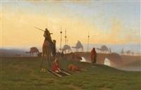 la prière du soir by charles théodore (frère bey) frère