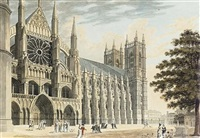 the north front of westminster abbey by thomas malton the younger