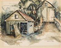 two barns by norman lewis