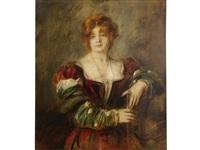 ritratto di donna by franz seraph von lenbach