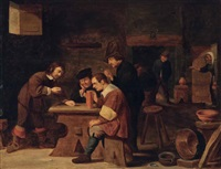 spieler in der bauernstube by david ryckaert iii