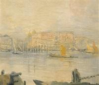 venezia, gondole e vele sul canale by gennaro favai