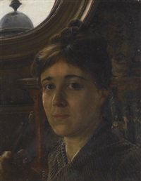 self-portrait by anna alma-tadema