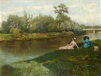 partie de pêche by alfred stevens