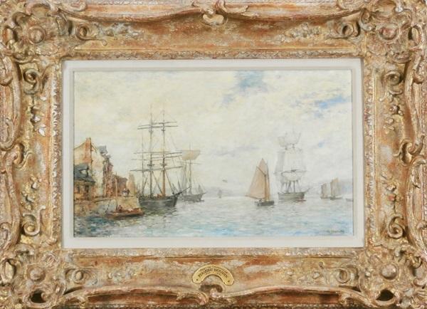 port de troville by eugène boudin