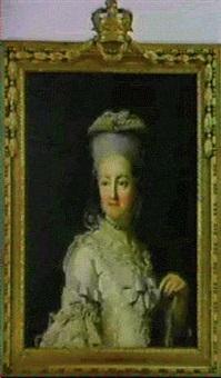 portraet af dronning juliane marie, brystbillede by virgilius erichsen