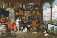 a kunstkammer with venus by jan brueghel the younger