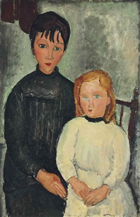 les deux filles by amedeo modigliani