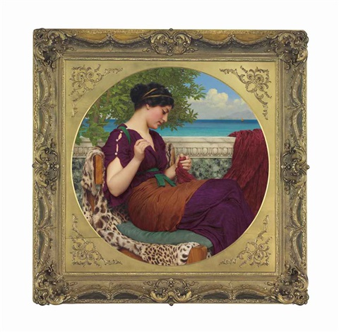 far away thoughts by john william godward