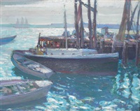 afternoon light, provincetown by richard edward miller