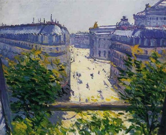 la rue halévy, vu d'un balcon by gustave caillebotte