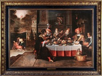 lazare et le mauvais riche by frans francken the younger