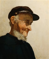 portrait of a fisherman by johan hendrik kaemmerer