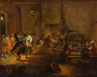intérieur de corps de garde avec des singes by david teniers the elder