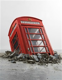 submerged phone booth by banksy