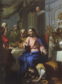 la madeleine aux pieds du christ by giovanni battista crosato