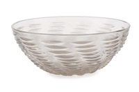 ondes opalescent glass bowl by rené lalique
