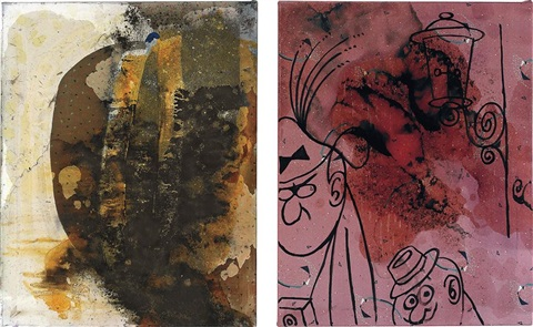untitled (diptych) by sigmar polke