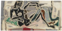 reclining figure (black) by patrick heron