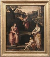 cristo e la samaritana al pozzo by alessandro di cristofano allori