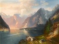 alpine lake by nicolai von astudin