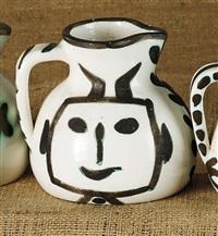 pichet tête carrée (square-headed pitcher) by pablo picasso