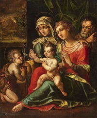 the holy family with saint anne and saint john by flemish school (16)