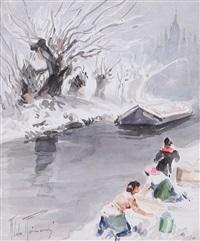 lavandaie al fiume by aldo raimondi