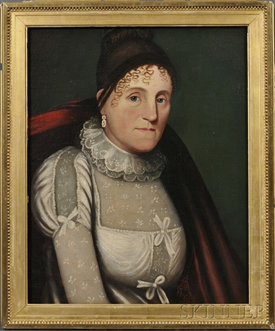 portrait of a new england man portrait of a new england woman pair by zedekiah belknap