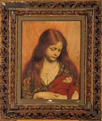 jeune fille au polichinelle by alexander theodore honore struys