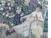 the garden chair by frederick carl frieseke