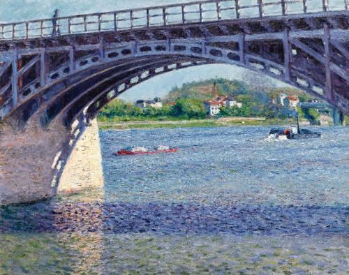 le pont dargenteuil et la seine by gustave caillebotte