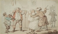 the barber by thomas rowlandson